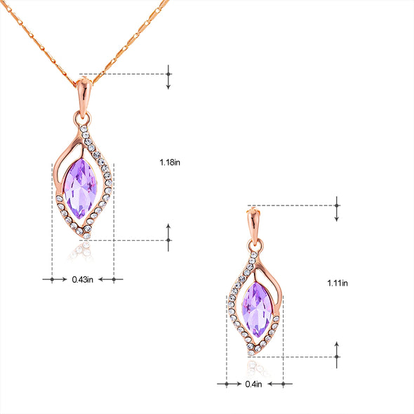 Line-type Crystal Jewelry Set - Shelark
