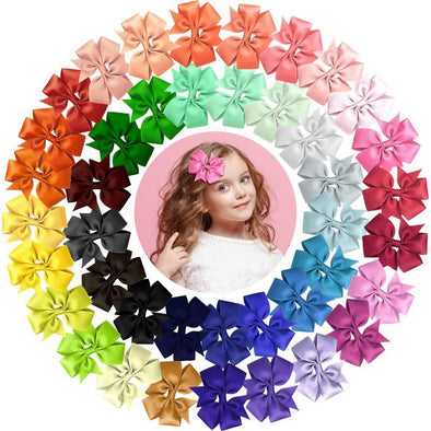 40pcs Girl's Hair Clips Mixed 40 colors - Shelark