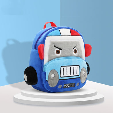 Plush Car Backpack for Boys and Girls