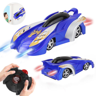 RC Remote Control Car Rechargeable Wall Climbing Cars Dual Mode 360°Rotating USB Race Toy Cars with LED Light Wall Stunt Climber Racing Car for Kid Best Gifts for Adult and Kids - Shelark