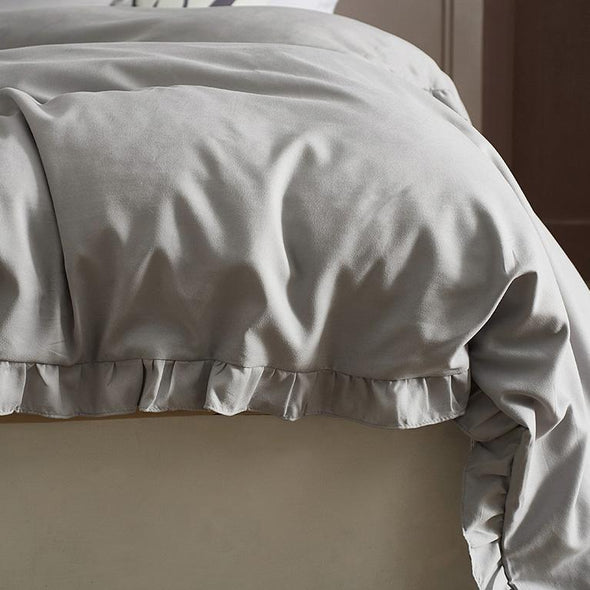 Ruffle Style Bedroom 3 Pieces Set Choclate - Shelark
