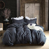 Ruffle Style Bedroom 3 Pieces Set Dark Grey - Shelark