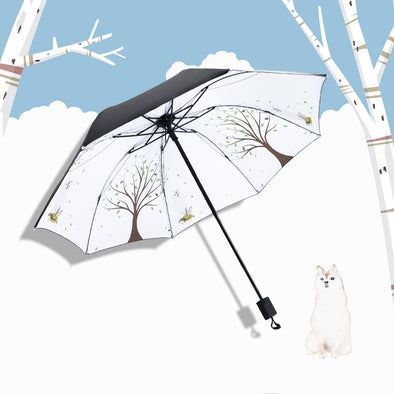 Cartoon Mini Five-fold Umbrella - Shelark