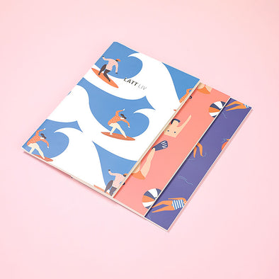 Ocean Series Notebook A5(3-pack) - Shelark