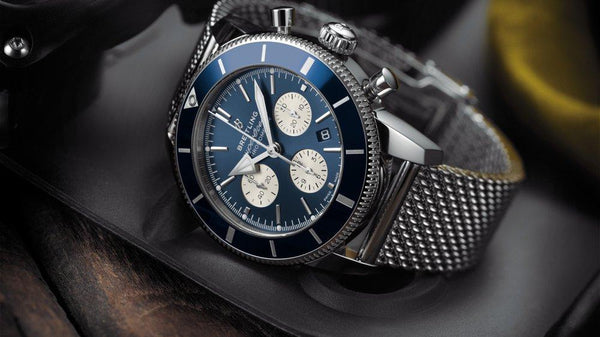 In 1957, Breitling unveiled the Superocean divers' watch, delving into the world of dive watches for the first time. Click to shop the famous accessory now.