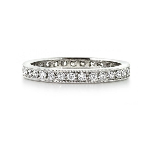 18ct White Gold 0.50ct Diamond Full Eternity Ring