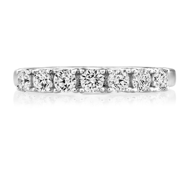 Platinum 0.58ct Diamond Half Eternity Ring