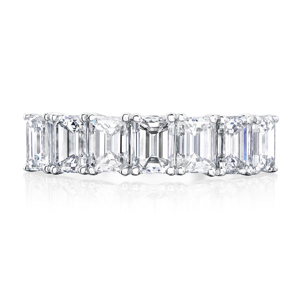 Burrells Platinum 2.14ct Emerald Cut Diamond Half Eternity Ring