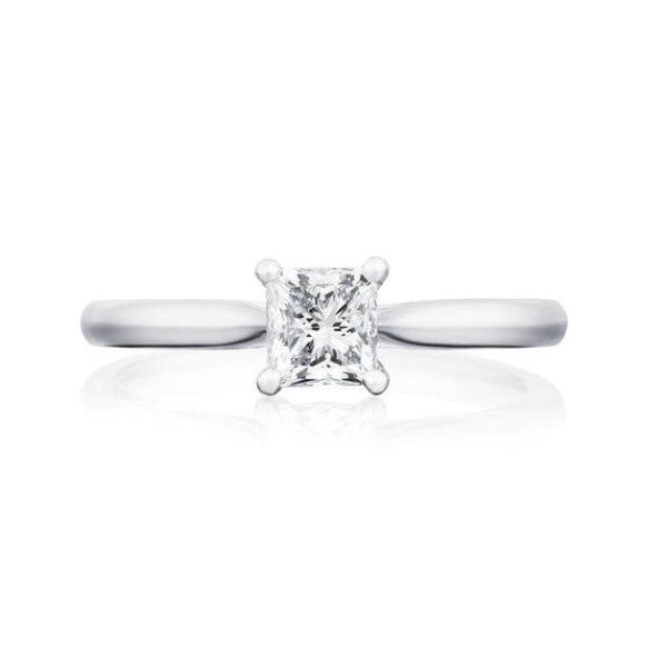 Burrells Platinum 0.86ct HVVS2 Certified Princess Cut Diamond Solitaire Ring