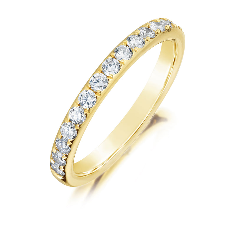 Burrells 18ct Yellow Gold 0.49ct Round Brilliant Cut Half Eternity Ring