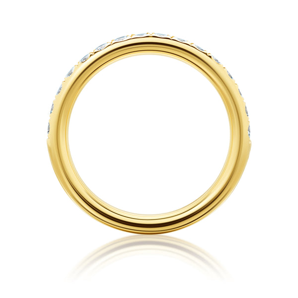Burrells 18ct Yellow Gold Half Eternity Ring