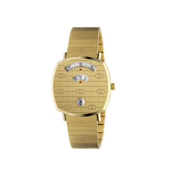 Gucci Grip Yellow Gold PVD Watch 35mm front view