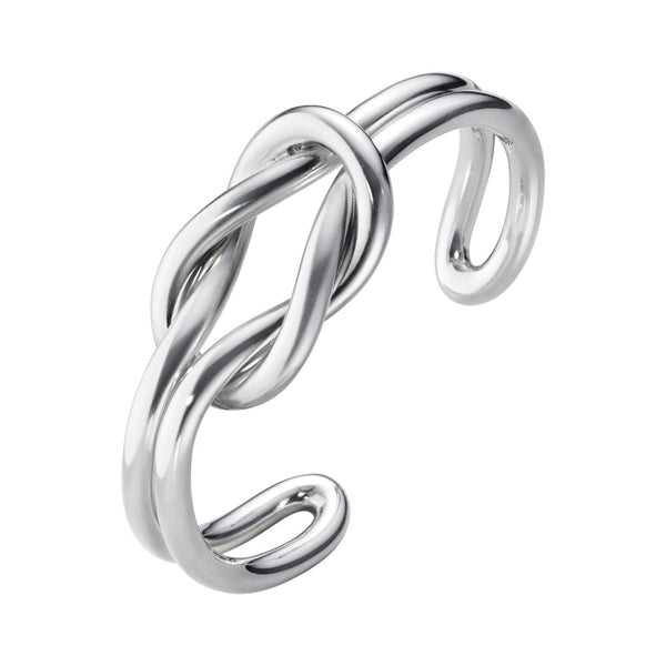 Georg Jensen Sterling Silver Love Knot Double Bangle 20000243000