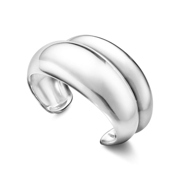 Georg Jensen Sterling Silver Curve Bangle 20000026