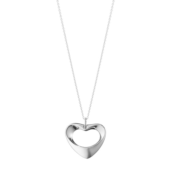 Georg Jensen Sterling Silver Koppel Medium Heart Pendant 10011741