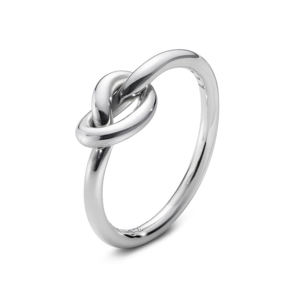 Georg Jensen Love Knot Sterling Silver Ring 20000217