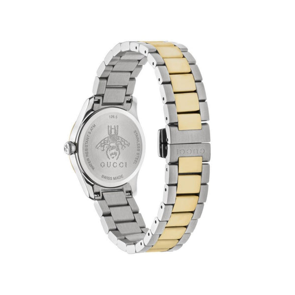Gucci G-Timeless Mother of Pearl & Bi-Colour Strap 27mm back view