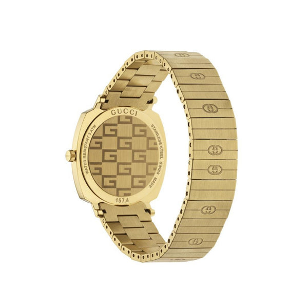 Gucci Grip Yellow Gold PVD Watch 35mm back view