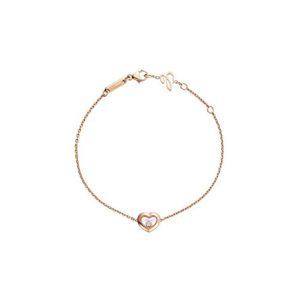 Chopard Happy Diamonds 18ct Rose Gold Heart Bracelet