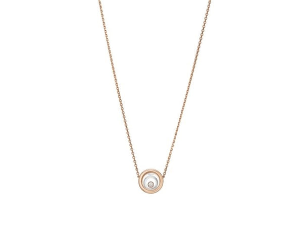 Chopard Happy Spirit 18ct Rose & White Gold & Diamond Necklace 818230-9001