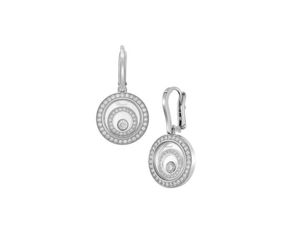 Chopard Happy Spirit 18ct White Gold & Diamond Earrings 838230-1001
