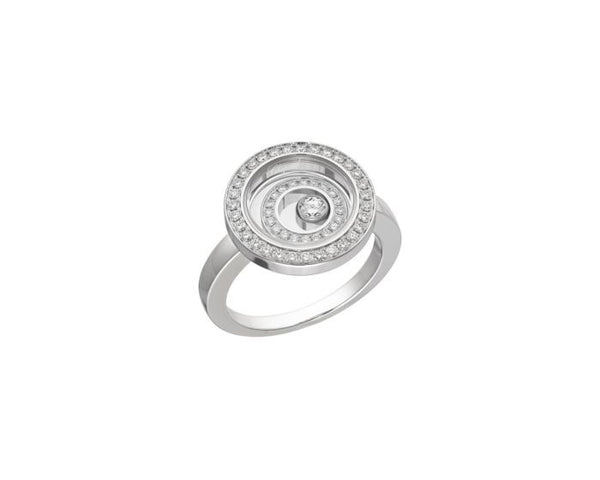 Chopard Happy Spirit 18ct White Gold & Diamond Ring 828230-1010