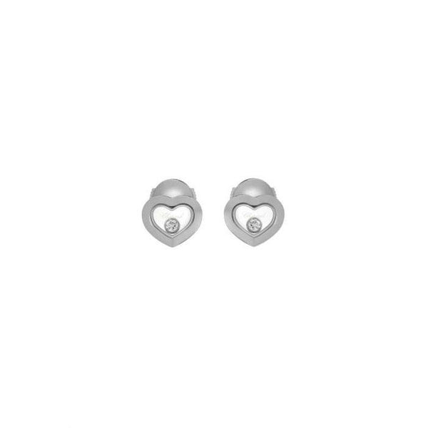 Chopard Happy Diamonds 18ct White Gold Earrings