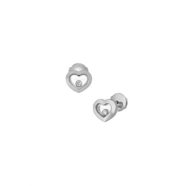 Chopard Happy Diamonds 18ct White Gold Earrings 83A054-1001