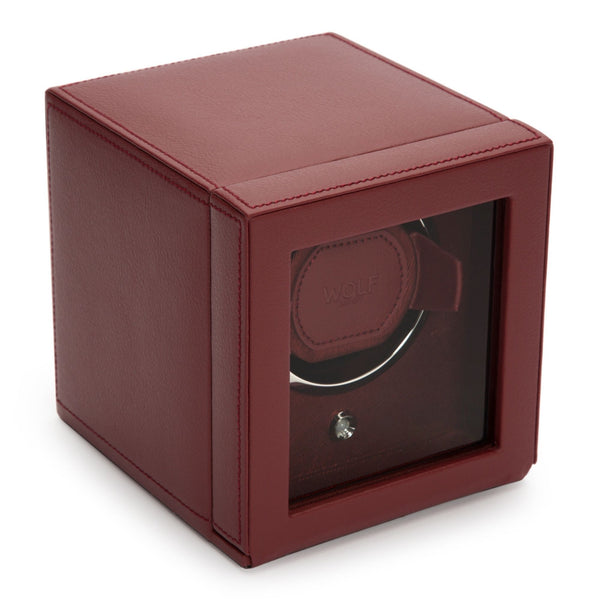 WOLF single watch winder in red side view