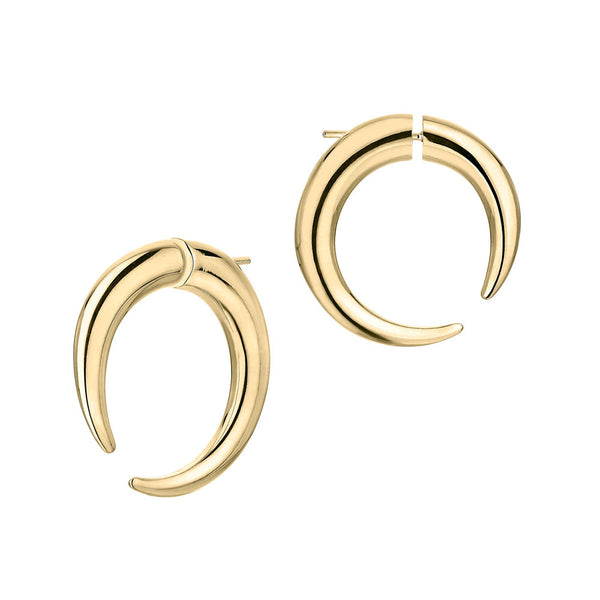 Shaun Leane Large Yellow Gold Vermeil Quill Hoop Earrings QU041.YVNAEOS