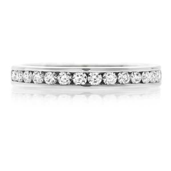 Platinum 0.86ct Diamond Full Eternity Ring