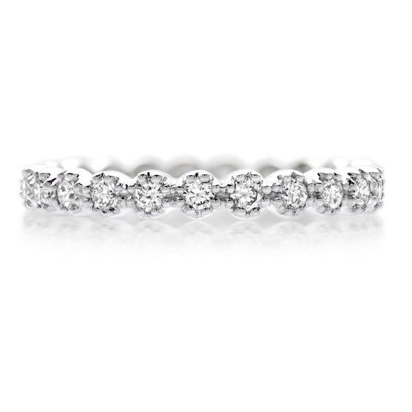 18ct White Gold 0.48ct Diamond Full Eternity Ring