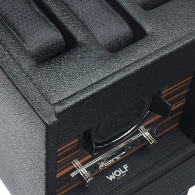 Wolf Roadster Single Watch Winder in black close up