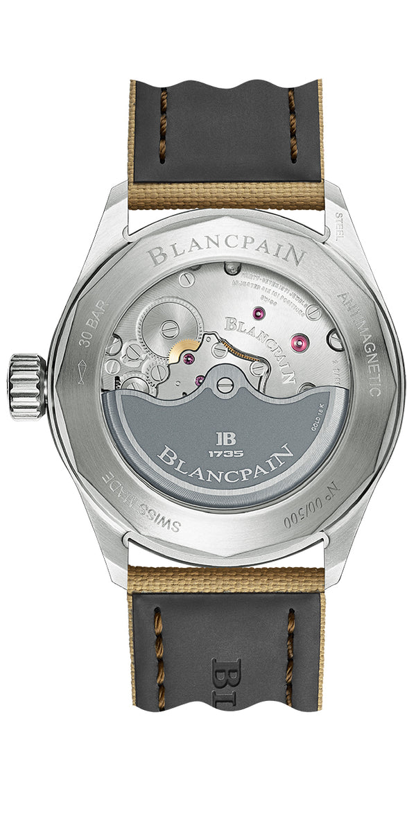 Blancpain Fifty Fathoms Bathyscaphe Day Date Desert Limited Edition 43mm 5052 1146 E52A Caseback