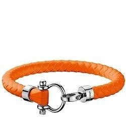 Omega Orange Rubber and Steel Sailor Bracelet  OB34STA0509103