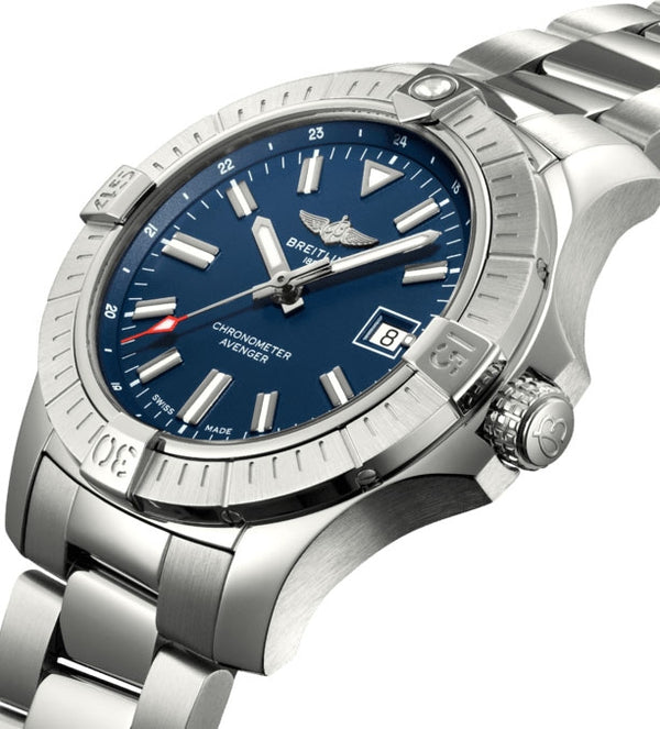 Breitling Avenger Automatic 43 Steel Blue A17318101C1A1 Crown