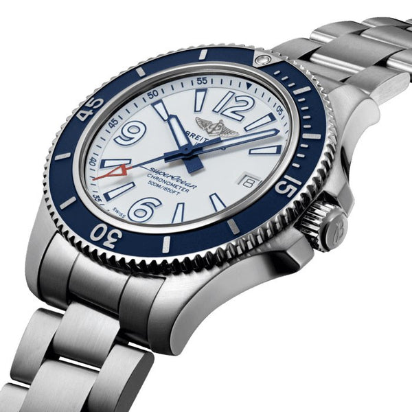 Breitling Superocean Automatic 42 White A17366D81A1A1 Crown