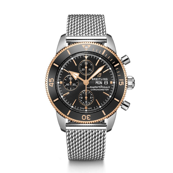 Breitling Superocean Heritage II Chronograph 44 Steel & Rose Gold 44mm Face