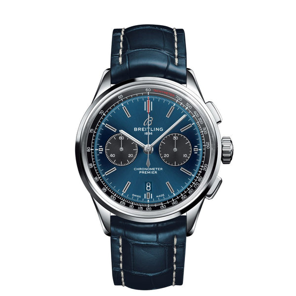 Breitling Premier B01 Chronograph 42 Blue Dial & Leather Strap 42mm