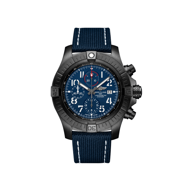 Breitling Avenger Chronograph 48 Night Mission Black Titanium - Blue V13375101C1X2