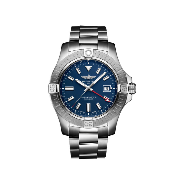 Breitling Avenger Automatic 45 GMT Steel Blue A32395101C1A1 Face