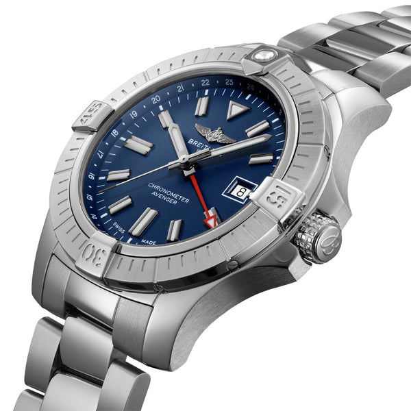 Breitling Avenger Automatic 45 GMT Steel Blue A32395101C1A1 Crown