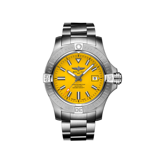 Breitling Avenger Automatic 45 Seawolf Steel Yellow A17319101I1A1 Face