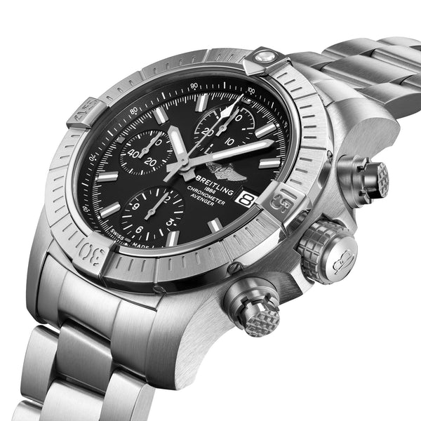 Breitling Avenger Chronograph 43 Steel Black A13385101B1A1 Crown