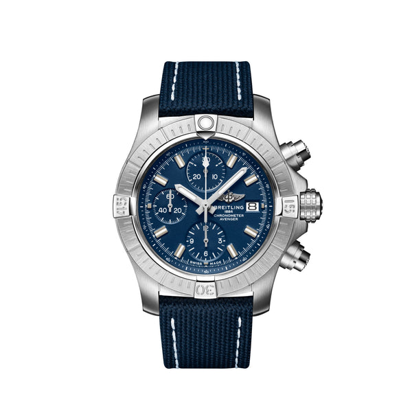 Breitling Avenger Chronograph 43 Steel Blue A13385101C1X2 Face