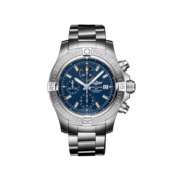 Breitling Avenger Chronograph 45 Steel Blue A13317101C1A1 Face