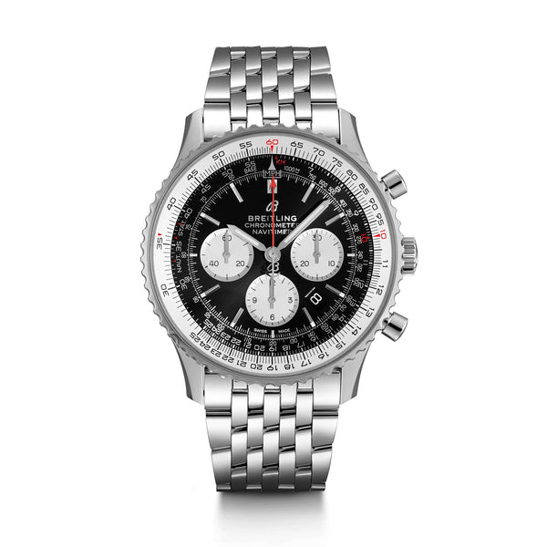 Breitling Navitimer B01 Chronograph 46 Watch Steel Black AB0127211B1A1 Face