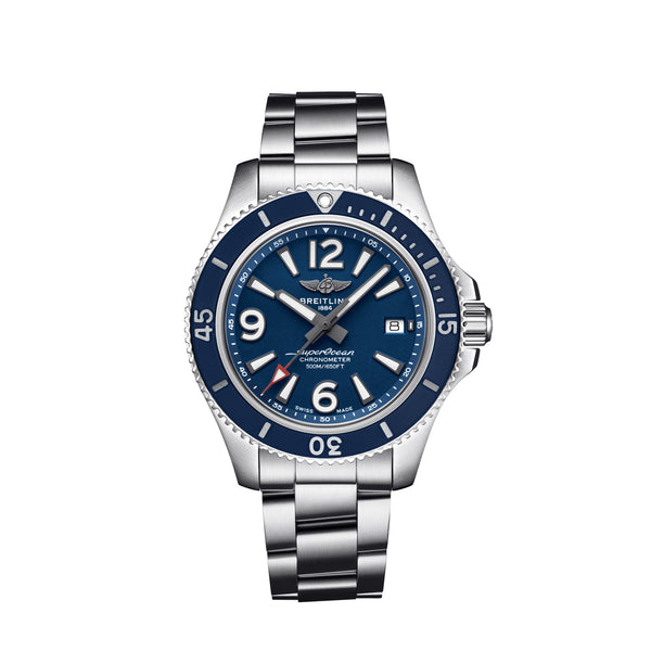 Breitling Superocean Automatic 42 Steel Blue Dial A17366D81C1A1 Face