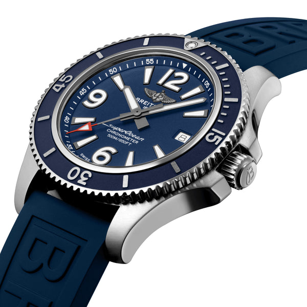 Breitling Superocean Automatic 42 Steel Blue Dial A17366D81C1S2 Crown