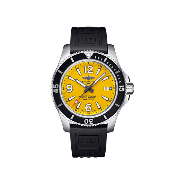 Breitling Superocean Automatic 44 Steel Yellow Dial A17367021I1S2 Face